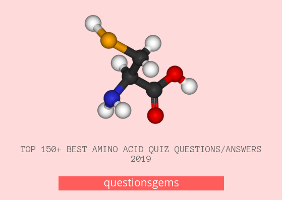 Best Amino Acid Quiz Questions And Answers 2019