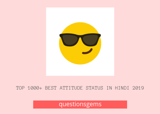 Best Attitude Status In Hindi 2019