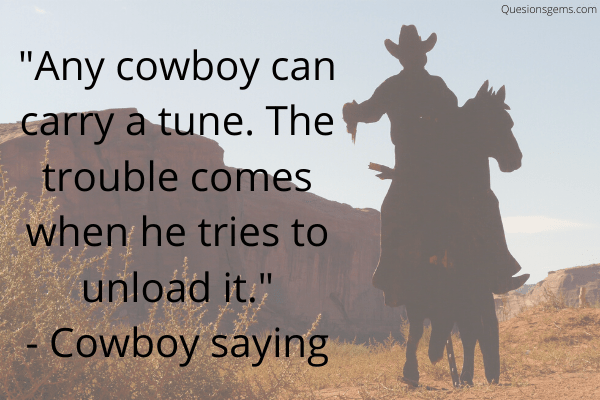 cowboy sayings
