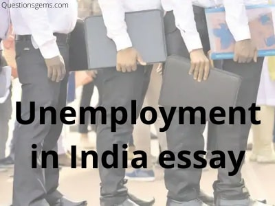 unemployment in india essay