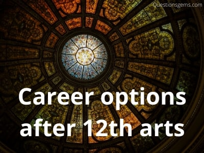 career options after 12 arts